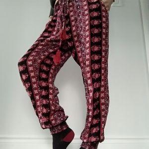 Barbados bohemian hippy baggy harem yoga pants
